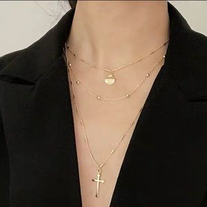 Gold-Tone Three-rows choker & Necklace